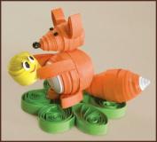 Quilting kit Charivna mit #КВ-034 Fox Animals Cake 8.5x6.5 cm / 3.15x2.36 in