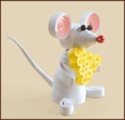 Quilting kit Charivna mit #КВ-028 Mouse Animals Cheese 8.5x6.5 cm / 3.15x2.36 in