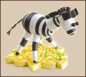 Quilting kit Charivna mit #КВ-022 Zebra Animals Africa 9x6.5 cm / 3.54x2.36 in