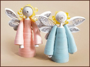 Quilting kit Charivna mit #КВ-019 Two Angels Sky 7x7 cm / 2.76x2.76 in