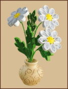 Quilting kit Charivna mit #КВ-014 chamomile Flowers Spring 10x15 cm / 3.94x5.91 in