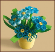 Quilting kit Charivna mit #КВ-013 Forget me not Flowers Blue 6x5.5 cm / 2.36x1.97 in