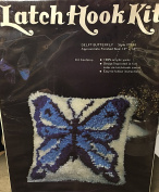 Latch Hook Kit Delft Butterfly 30cm x 30cm Great for Beginners