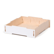 Large White Wooden Storage Tray, American Made - By Sprout