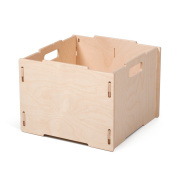 Unfinished Wood Stackable Cube Storage Boxes, American Made - By Sprout