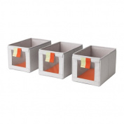 Ikea Box, grey, orange , 3 packs , 18214.82329.168