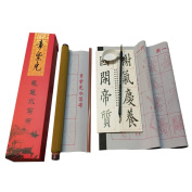Magic Rewritable Water Writing Chinese Japanese Calligraphy Cloth Fabric Scroll with Brush Rack and Water Dish Quick Drying Fabric Cloth Paper for Beginners Practise Set