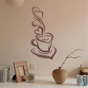 HN Coffee Removable Decal Art Vinyl Mural Home Room Decor Wall Stickers
