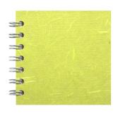 Zen Pink Pig, 10cm x 10cm Square Sketchbook | 35 White Sheets, 45kg | Lime Green