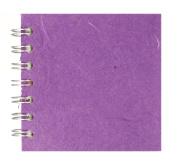 Zen Pink Pig, 10cm x 10cm Square Sketchbook   35 White Sheets, 45kg   Purple