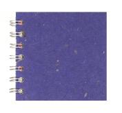 Zen Pink Pig, 10cm x 10cm Square Sketchbook | 35 White Sheets, 45kg | Sapphire
