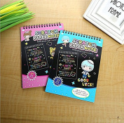 Premium Scratch and Sketch Art Notes - (2 Pack) Medium Rainbow Art & Doodle Pads. Perfect for Road Trips. Great Gift for Kids!