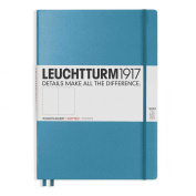 Leuchtturm1917 Slim Master Size Hardcover Dots Notebook, Nordic Blue