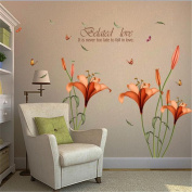 HN Flower Wall Stickers Removable Decal Home Decor DIY Art Decoration