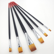 Artist Paint Brushes Long Handle Nylon hair brush, Oil Painting, Watercolour Paint brush, Multi Style art the best Fine Flat Head brush ,Have Excellent Durability