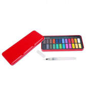 MEEDEN 24-Colour Watercolour Paint Set with Brush & Water Brush Pen