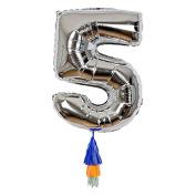 Meri Meri Foil Fancy Number Ballon Includes 1 Ballon with Tassels