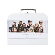 Talking Tables Modern Romance Wedding Photobooth Props Kit in Mini White Suitcase for a Wedding or Celebration
