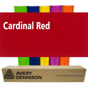 Sign Vinyl Avery PC500 60cm x 5yd for Decal Banners lettering Graphics Windows - CARDINAL RED