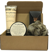 Christmas Gifts For Him! - Men's Grooming Sets - Men's Gift Sets - Loofah, Manicure/Pedicure/Tweezer/Beard-Moustache Scissors, +More -Several Sizes & Scents-