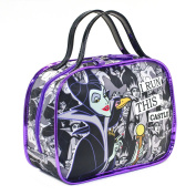 LONDON SOHO NEW YORK Disney Villains Collection I Run This Castle Cosmetic Bowling Duffle, Maleficent