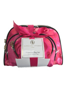Adrienne Vittadini Women's Three Dome Shaped Honeycomb Design Cosmetic Bag Set