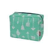 Mint Arrow Print NGIL Large Cosmetic travel Pouch