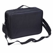 Cosmetic Bag Clothing Black 3 Layers Professional Multifunctional Makeup Bag Toiletry Bag Beauty Bag