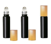 Grand Parfums Coloured Glass Aromatherapy 10ml Rollon Bottles with Stainless Steel Roller and MATTE GOLD CAPS