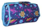 Ever Moda Turtle Women's Juniors Hanging Toiletry Bag Navy Blue Teal