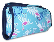 Ever Moda Flamingo Women's Juniors Hanging Toiletry Bag