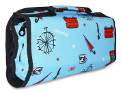Ever Moda London Women's Juniors Hanging Toiletry Bag Blue