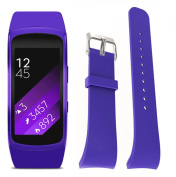 Voberry Luxury Silicone Watch Replacement Band Strap For for Samsung Gear Fit 2 SM-R360