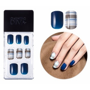 Dashing Diva Full Cover Gel Nail Tips, Easy to attach without Glue (Square Type, Disposable) MPGS53 Modern Cheque