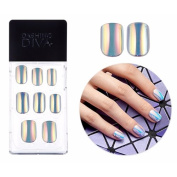 Dashing Diva Full Cover Gel Nail Tips, Easy to attach without Glue (Square Type, Disposable) MPGS52 Hologram
