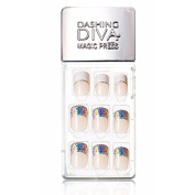 Dashing Diva Magic Press Premium Series #04 Vanila Candy Full Cover Gel Nail Tips, Easy to attach without Glue