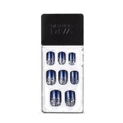 Dashing Diva Magic Press #058 Midnight Snow Full Cover Gel Nail Tips, Easy to attach without Glue (Asian Type, Disposable) MIPA56
