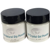 TP Natural Dip Powder. Advanced Polymer TP Crystal Gel Powder Base, Natural Looking Pink, and Supper White Colour.