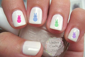 Easter Bunny Peeps Candy Nail Art Decals