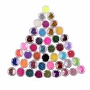 Fheaven 45 Colours Nail Art Make Up Body Glitter Shimmer Dust Powder Decoration