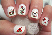 Skull and Roses Nail Art Decals