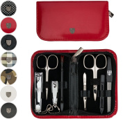 THREE SWORDS   Exclusive 8-Piece MANICURE - PEDICURE - GROOMING - NAIL CARE set / kit / case   VARIOUS DESIGNS   Made in Solingen / Germany