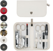 THREE SWORDS | Exclusive 8-Piece MANICURE - PEDICURE - GROOMING - NAIL CARE set / kit / case | VARIOUS DESIGNS | Made in Solingen / Germany