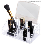 PuTwo Makeup Organiser Cosmetic Organiser for Lipsticks, Make Up Brushes with Mirror - Large