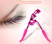 Professional Quality Eyelash Curler - 1 Free Eyelash Tweezer Included. Best New Professional Tool Properly Separates Lashes,Curls Without Pinching or Pulling BU047R