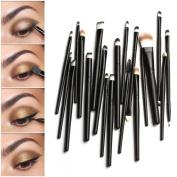 Leoy88 20pcs Dotting Cosmetic Tools Shadow Pen Eyeliner Brush