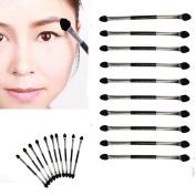 Fheaven 10Pcs Makeup Double-end Eye Shadow Eyeliner Brush Sponge Applicator Tool