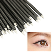 ACE 50Pcs Disposable Eye Liner Brush Short Handle Cosmetic Eyeliner Makeup Tool Make Up Brushes