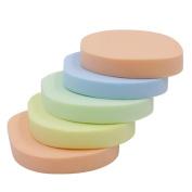 Aoert Facial Cleansing Sponge Makeup Blender Comestic Sponge Puff 5 Per Package