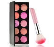 Meritina Professional 10colors Makeup Blush Palette+ Blush brush